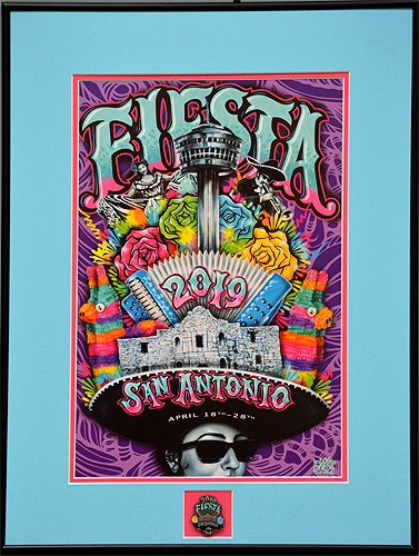 FIESTA 2019 SMALL POSTER FRAMED WITH PIN