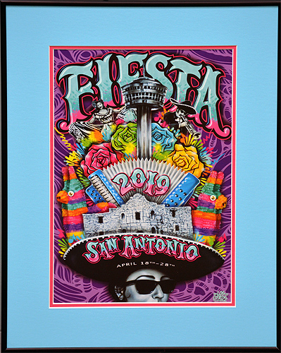 FIESTA 2019 SMALL POSTER FRAMED