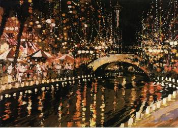 Christmas - San Antonio River Print