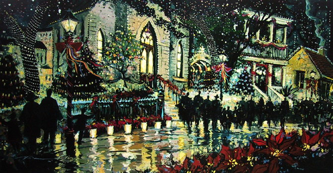 Little Christmas Village print